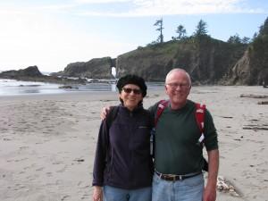 Mary & Roger at the beach in La Push, Washington