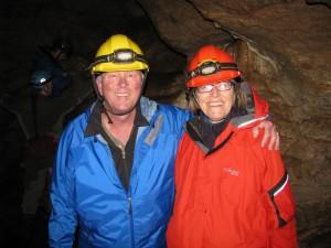 Roger & Mary at Horne Lake Caves near Quallicum Beach, B.C