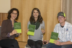 Cybelle Immitt, Colette Metz, and Jordan Jones showing off their books!