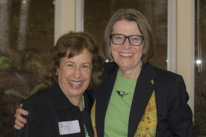 Peggy Falk and Mary Gelinas, happy to see one another.