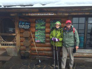 Mary and Roger at Lake Agnes Tea House, Lake Louise, Banff National Park, Alberta Canada, 2018
