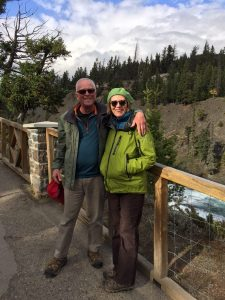 Roger and Mary above Bow River, Banff, Alberta, Canada, 2018